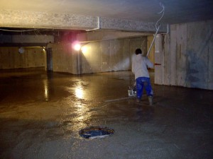 Posadzka garaży - zespół apartamentów w Wiśle